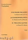 Okładka: Przybylski Bronisław Kazimierz, 24 Preludia letnie na klarnet B i altówkę (partytura + głosy)