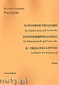 Okładka: Przybylski Bronisław Kazimierz, 24 Preludia letnie na klarnet B i wiolonczelę (partytura + głosy)