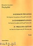 Okładka: Przybylski Bronisław Kazimierz, 24 Preludia letnie na saksofon sopranowy i wiolonczelę (partytura + głosy)