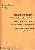 Okładka: Przybylski Bronisław Kazimierz, 24 Preludia letnie na saksofon altowy i wiolonczelę (partytura + głosy)