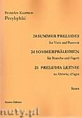 Ok�adka: Przybylski Bronis�aw Kazimierz, 24 Preludia letnie na alt�wk� i fagot (partytura + g�osy)