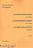 Okładka: Przybylski Bronisław Kazimierz, 24 Preludia letnie na 2 flety (partytura + głosy)