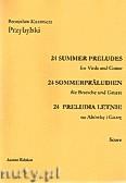 Ok�adka: Przybylski Bronis�aw Kazimierz, 24 Preludia letnie na alt�wk� i gitar� (partytura + g�osy)