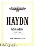 Ok�adka: Haydn Franz Joseph, Koncert D-dur op.101 Hob. VIIB/2 na wiolonczel� i orkiestr� wyci�g  fortepianowy