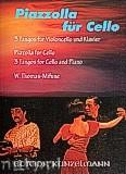 Ok�adka: Piazzolla Astor, Piazzolla f�r Cello 3 Tangos f�r Violoncello und Klavier