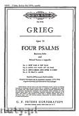 Ok�adka: Grieg Edward, Cztery psalmy op.74