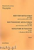 Okładka: Przybylski Bronisław Kazimierz, Miniatury rytmiczne - 10 miniatur na flet i akordeon (ca 12', partytura + głosy)