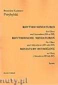 Ok�adka: Przybylski Bronis�aw Kazimierz, Miniatury rytmiczne - 10 miniatur na ob�j i akordeon (ca 12', partytura + g�osy)
