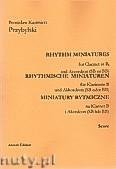 Ok�adka: Przybylski Bronis�aw Kazimierz, Miniatury rytmiczne - 10 miniatur na klarnet B i akordeon (ca 12', partytura + g�osy)