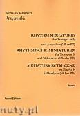 Ok�adka: Przybylski Bronis�aw Kazimierz, Miniatury rytmiczne - 10 miniatur na tr�bk� B i akordeon (ca 12', partytura + g�osy)