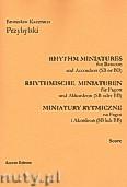 Ok�adka: Przybylski Bronis�aw Kazimierz, Miniatury rytmiczne - 10 miniatur na fagot i akordeon (ca 12', partytura + g�osy)