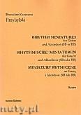 Ok�adka: Przybylski Bronis�aw Kazimierz, Miniatury rytmiczne - 10 miniatur na gitar� i akordeon (ca 12', partytura + g�osy)