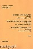 Ok�adka: Przybylski Bronis�aw Kazimierz, Miniatury rytmiczne - 10 miniatur na alt�wk� i akordeon (ca 12', partytura + g�osy)