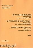 Okładka: Przybylski Bronisław Kazimierz, Miniatury rytmiczne - 10 miniatur na wiolonczelę i akordeon (ca 12', partytura + głosy)
