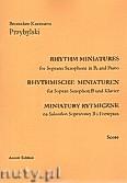 Okładka: Przybylski Bronisław Kazimierz, Miniatury rytmiczne - 10 miniatur na saksofon sopranowy i fortepian (ca 12', partytura + głosy)