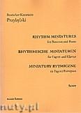 Ok�adka: Przybylski Bronis�aw Kazimierz, Miniatury rytmiczne - 10 miniatur na fagot i fortepian (ca 12', partytura + g�osy)