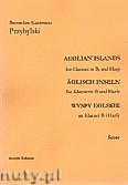 Okładka: Przybylski Bronisław Kazimierz, Wyspy Eolskie na klarnet B i harfę (ca 19', partytura + głosy)