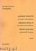Ok�adka: Przybylski Bronis�aw Kazimierz, Wyspy Eolskie na klarnet B i fortepian (ca 19', partytura + g�osy)