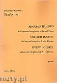 Okładka: Przybylski Bronisław Kazimierz, Wyspy Eolskie na saksofon sopranowy i fortepian (ca 19', partytura + głosy)