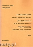 Ok�adka: Przybylski Bronis�aw Kazimierz, Wyspy Eolskie na saksofon altowy i fortepian (ca 19', partytura + g�osy)