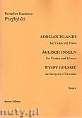 Ok�adka: Przybylski Bronis�aw Kazimierz, Wyspy Eolskie na skrzypce i fortepian (ca 19', partytura + g�osy)