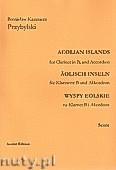 Ok�adka: Przybylski Bronis�aw Kazimierz, Wyspy Eolskie na klarnet B i akordeon (ca 19', partytura + g�osy)