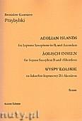 Okładka: Przybylski Bronisław Kazimierz, Wyspy Eolskie na saksofon sopranowy i akordeon (ca 19', partytura + głosy)