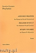 Ok�adka: Przybylski Bronis�aw Kazimierz, Wyspy Eolskie na klarnet B i klawesyn (ca 19', partytura + g�osy)