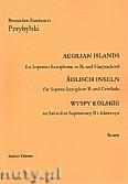 Okładka: Przybylski Bronisław Kazimierz, Wyspy Eolskie na saksofon sopranowy i klawesyn (ca 19', partytura + głosy)