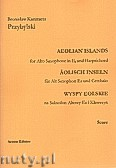 Okładka: Przybylski Bronisław Kazimierz, Wyspy Eolskie na saksofon altowy i klawesyn (ca 19', partytura + głosy)