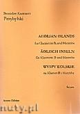 Okładka: Przybylski Bronisław Kazimierz, Wyspy Eolskie na klarnet B i marimbę (ca 19', partytura + głosy)