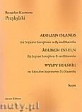 Okładka: Przybylski Bronisław Kazimierz, Wyspy Eolskie na saksofon sopranowy i marimbę (ca 19', partytura + głosy)