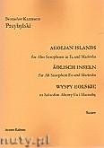 Okładka: Przybylski Bronisław Kazimierz, Wyspy Eolskie na saksofon altowy i marimbę (ca 19', partytura + głosy)