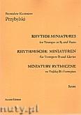 Okładka: Przybylski Bronisław Kazimierz, Miniatury rytmiczne - 10 miniatur na trąbkę B i fortepian (ca 12', partytura + głosy)