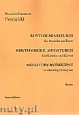 Okładka: Przybylski Bronisław Kazimierz, Miniatury rytmiczne - 10 miniatur na marimbę i fortepian (ca 12', partytura + głosy)