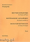 Ok�adka: Przybylski Bronis�aw Kazimierz, Miniatury rytmiczne - 10 miniatur na gitar� i fortepian (ca 12', partytura + g�osy)