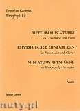 Ok�adka: Przybylski Bronis�aw Kazimierz, Miniatury rytmiczne - 10 miniatur na wiolonczel� B i fortepian (ca 12', partytura + g�osy)