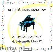 Okładka: , Solfeż elementarny akompaniamenty do 6 klasy - płyta CD