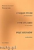 Okładka: Przybylski Bronisław Kazimierz, PIĘĆ STUDIÓW na akordeon (Studio Chromatico, Studio Ritmico, Studio Armonico, studio Tremolo, Studio Sonoro, całość ca 11')