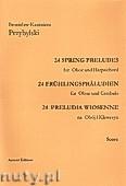 Okładka: Przybylski Bronisław Kazimierz, Preludia wiosenne na obój i klawesyn (partytura + głosy)