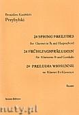 Okładka: Przybylski Bronisław Kazimierz, Preludia wiosenne na klarnet B i klawesyn (partytura + głosy)