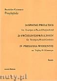 Okładka: Przybylski Bronisław Kazimierz, Preludia wiosenne na trąbkę B i klawesyn (partytura + głosy)