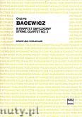 Ok�adka: Bacewicz Gra�yna, III kwartet smyczkowy (partytura i g�osy)