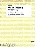 Ok�adka: Dutkiewicz Andrzej, Danse Triste na saksofon altowy i fortepian