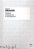 Okładka: Krauze Zygmunt, Pour El na klawesyn solo