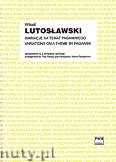 Ok�adka: Lutos�awski Witold, Wariacje na temat Paganiniego