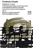 Ok�adka: Chopin Fryderyk, Wariacje B-dur transkrypcja na fortepian i kwartet smyczkowy Op.2