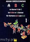 Okładka: Brzozowski Adam, ABC na klarnet B lub C z. 1