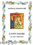 Ok�adka: Koszewski Andrzej, Canti sacri