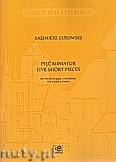 Okładka: Guzowski Kazimierz, Pięć miniatur na wiolonczelę i fortepian